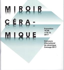 Elodie LESIGNE - Publication - Catalogue Exposition Miroir Céramique Carouge - Couverture