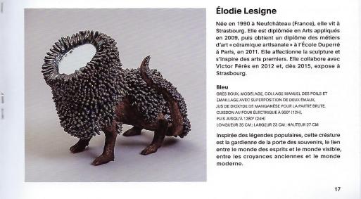 Elodie LESIGNE - Publication - Catalogue Exposition Miroir Céramique Carouge - Page centrale